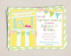Lemonade Straberystand Signs Printable Girls | ... and Lemonade Girl 's Summer Birthday Party Printable Invitation