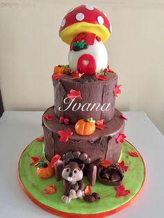 Autumn fondant cake