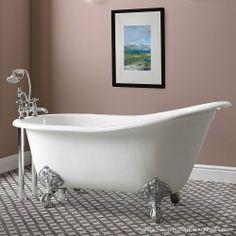 Soakology - Mayfield Cast Iron slipper Bath - two tap holes - white
