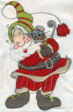 Sassy Santas Machine Embroidery Designs
