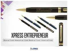 Business Pens, Green And Gold, Giveaway, How To Memorize Things, Campaign, Blue, Beauty, Beauty Illustration