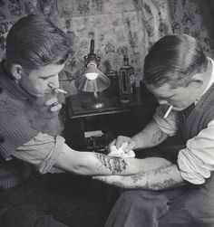 Vintage tattoo, ship