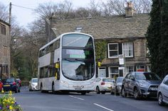 Subject: First Manchester 36300 HDC) Chassis: Volvo Body: Wright Location: Dobcross, The Square Date: 36300 made an impressive sight passing through Dobcross village Manchester Buses, First Bus, Busses, Volvo, Deck, Travel, Viajes, Front Porches, Buses