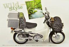 Eine Cub als Reisefahrzeug Honda Cub, Wild Style, Mini Bike, Motorhome, Cars And Motorcycles, Motorbikes, Cubs, Dream Cars, Camping