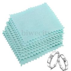 10/50/100pcs Polishing Cloth Jewelry Cleaning for Platinum Gold Sterling Silver