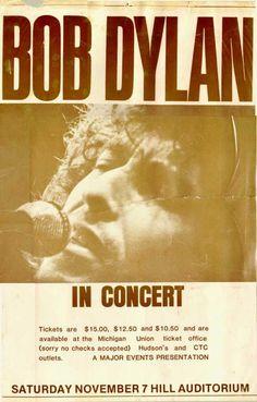 11 07 1981 -  Bob Dylan Concert Poster