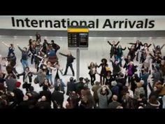 Flashmob: Heathrow airport welcome - YouTube