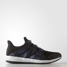 adidas Gymbreaker Bounce Shoes Black ($70) ❤ liked on Polyvore featuring shoes, black shoes, black pointy shoes, see-through shoes, black laced shoes and adidas footwear