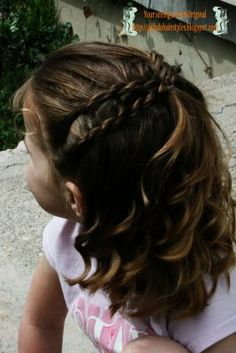 @Amy Gessler.. WANT THIS!Simple Double Twist  ~this sight has sooo many adorable lil girl hairstyles for all lengths of hair!