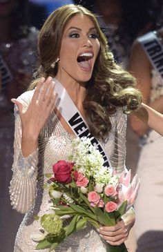 Maria Gabriela Isler Miss Universe 2013 Reaction.