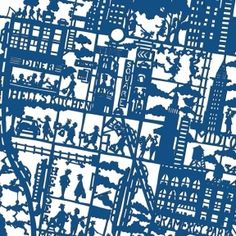 NYC map print (BLUE) by Famille Summerbelle