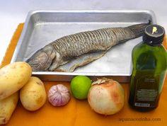 peixe dourado? inteiro assado no forno ou no papel aluminio