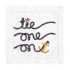 Raising the Bar: August Morgan Tie One On Cocktail Napkins | $36 for a set of four