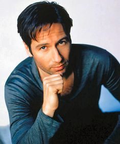 "David Duchovny: I have a theory about Television ""imprinting"" on 13 year olds. Your favourite character of your preferred gender imprints you with a certain ideal partner. I almost exclusively dated dark haired men. With exceptional eyebrows."