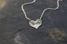 heart and arrow necklace gold silver simple by greygoosegifts