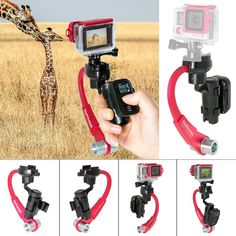 Fantaseal Action Camera 3-Axis Inertia Gyro Stabilizer w/ Remote Control Holder Clip for GoPro Grip Handle GoPro Stabilizer GoPro Gimbal for GoPro Hero 4 / Session / 3 /3-Red *** You can get more details by clicking on the image. (This is an Amazon Affiliate link and I receive a commission for the sales)