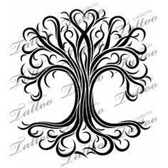 Marketplace Tattoo feminine tree of life #4195 | CreateMyTattoo.com