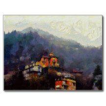 Church on a Hill Postcard