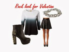 Rock look for Valentines day