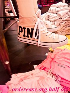 reminds me of the pink converse I had and when we went to Boston I refused to take them off :) I want another pair ! :)     Fashion pink #converses #sneakers summer 2014