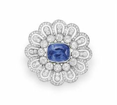 A BELLE EPOQUE SAPPHIRE AND DIAMOND BROOCH | Jewelry Auction | Jewelry, brooch | Christie's