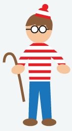 DIY Halloween Costume: Where's Waldo? - Easy, classic costume. Take a long-sleeved white tee and paint horizontal red stripes on it. Find a red hat with a ball on top and paint everything but the ball and the edges white. Add a pair of jeans and some Harry Potter-like glasses.