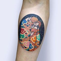 Great artwork is timeless and inspires us every day. Some art-loving folks pay homage to its beauty through museum-worthy tattoos. Klimt, Basson, History Tattoos, Painting Tattoo, Classic Paintings, Korean Art, Couple Tattoos, Body Art Tattoos, Tatoos