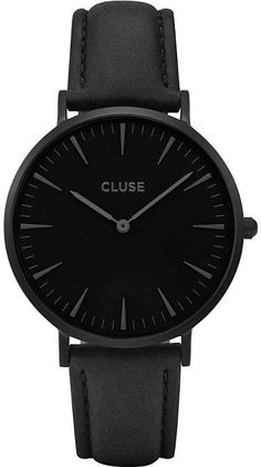 e29c38704ac50 CLUSE CL18501 La Bohème Full Black leather watch