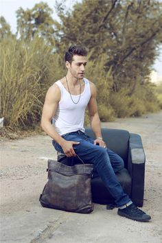19men's Leather Bag/Men Leather backpack/Shoulder by nooooin