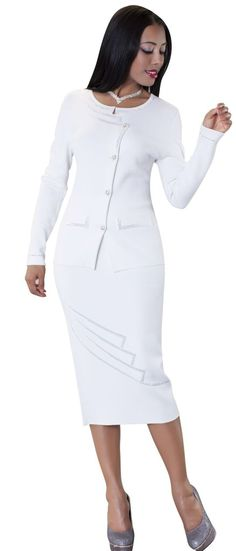 5df8203e36a Kayla 5162-White - Church Suits For Less Two Pieces