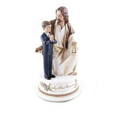 First Communion Jesus w/Boy Musical Figure