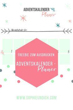 Plane den Adventskalender für deine Liebsten, mit meinem kostenlosen Freebie. Planer, Chart, Map, Winter Time, Advent Season, Advent Calendar, Location Map, Maps