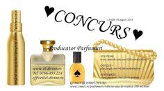 "Parfumuri El Divino - Google+   MAINE, 16.08.14 SE VA INCHEIA ♥ CONCURS Nr. 1 ""STANDARD"" ♥ ♥ PREMIU-SET PRODUSE  ♥  -BODY MIST El-Divino, fructat 100 ml ( la alegere : rodie, cirese, pepene rosu, piersici si capsuni ) -AFTER SHAVE  El-Divino, 90 ml -PARFUM El-Divino DETALII si reguli concurs Nr.1 la : www.el-divino.ro/Concursuri-premii-parfumuri.php"