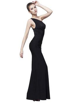 cb8479779571 Dressesinstock Women's One Shoulder Floor Length Split Evening Dress ***  You can find more