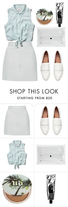 """""""cool it"""" by dotty-28 ❤ liked on Polyvore featuring Topshop, Abercrombie & Fitch, Urban Decay, outfit, bronzer and MINISKIRT"""