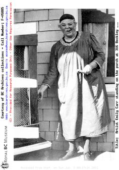 Famous & Eccentric Artist Emily Carr (1930s) - this one's even better!!  Just what I want to be when I grow up!!!