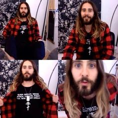 Me on #VyRT yesterday. Thx for the collage, @jaredslucy. #JL #JaredLeto