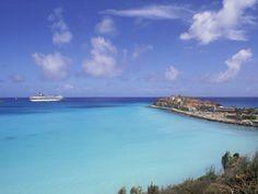 Coastal View with Cruise Ship, Great Bay Beach, Phillipsburg, St. Maarten, Caribbean Photographic Print by Bill Bachmann at Art.com