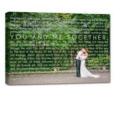 just married anniversary photo and canvas sign