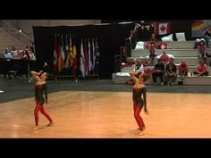 world baton twirling championship 2010 - junior pair finals - italy