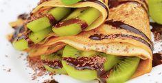 Para empezar tu día con energía prepara estos delicioso pancakes con kiwi.