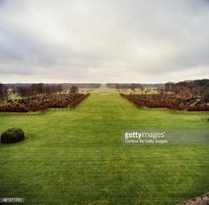 Houghton Hall is photographed for Vanity Fair Magazine on February 3, 2013 in Norwich, England. A view of the grounds, looking toward Full Moon Circle, an installation by artist Richard Long. PUBLISHED IMAGE.