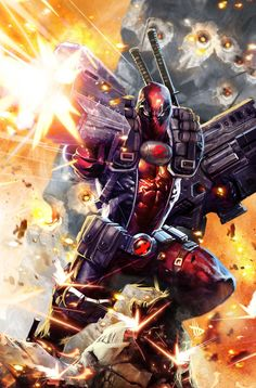 #Deadpool #Fan #Art. (Deadpool in Cable's undies) By: Dave-Wilkins.