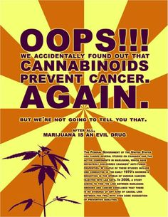 Cannabinoids prevent #Cancer. Know the facts. | #1Cure4Cancer
