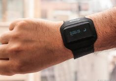 The Withings Pulse packs a pedometer, heart rate monitor, and sleep tracker into a tiny little black slab that syncs wirelessly with Android devices and iPhones. http://cnet.co/15DzHR6