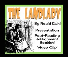 """Use Roald Dahl's creepy short story, """"The Landlady"""" to get your middle/high school students in the Halloween spirit! This resource can be used during the Halloween season, but can also be used at any other time during the year! Included In Your Purchase: • 26 Slide Powerpoint presentation to guide you through the lesson."""