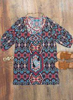 Urban Mangoz BoHo Inspired Ladies Babydoll Tanic 3/4 Sleeves - Latest Trends of Fashion find more women fashion on https://www.amazon.com/Futurino-Womens-Bohemian-Vintage-Pattern/dp/B01ICI8N8C/ref=sr_1_186?s=apparel&ie=UTF8&qid=1471337500&sr=1-186&nodeID=1040660&keywords=futurino