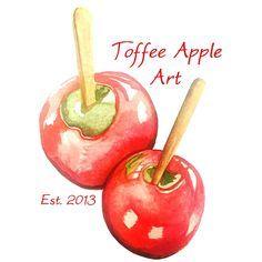 Explore ideas like board Toffee Apple Art Apple Art, Toffee, Caramel Apples, Cherry, Fruit, Logo, Business, Watercolour, Desserts