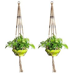 accmor Plant Hanger Set of 4 Legs 36 Inch Strong Macrame Handmade Jute Rope Indoor Outdoor Balcony Patio Deck Ceiling Plant Holder for Round & Square Pots - Retro Feeling & Unmatched Finesse Outdoor Balcony, Outdoor Gardens, Indoor Outdoor, Special Deals, Hanging Planters, Plant Holders, Plant Hanger, Macrame, Pots