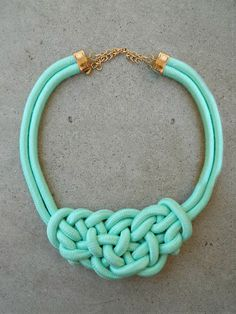 Rope Necklace // Mint